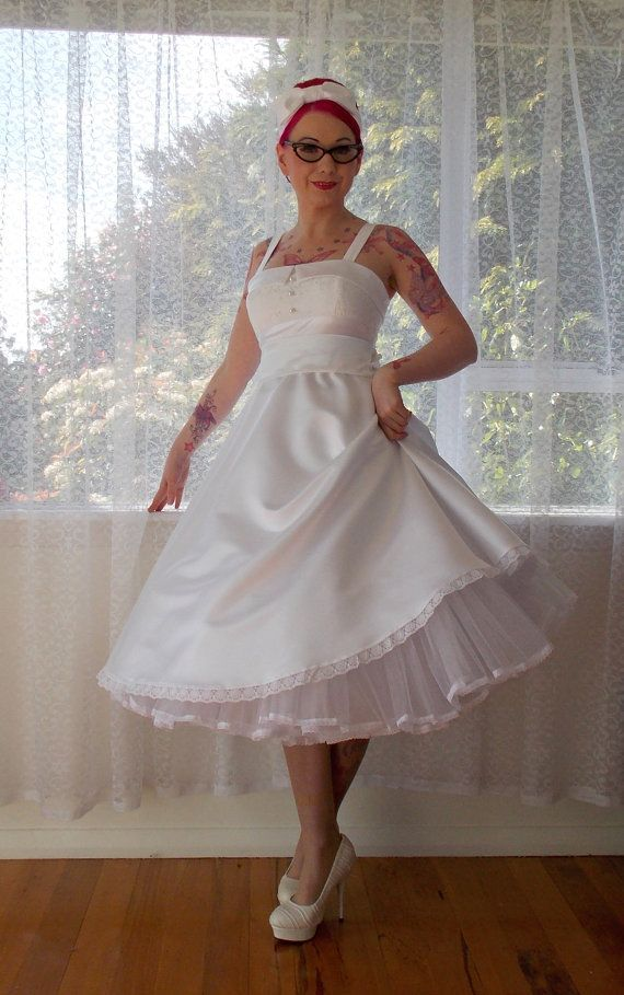 28 best pin up wedding dresses images on pinterest short for Pin up inspired wedding dresses