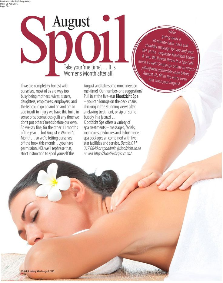 August month Spa Competition at Kloofzicht Spa. QuickView :: Newsclip Media Monitoring