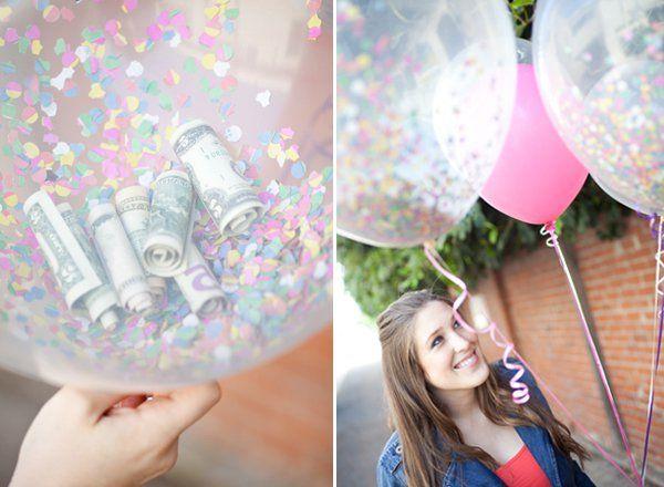 Geburtstag Geschenk ballon geld idee