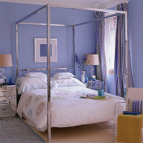 I remember as a child my grandparents temporaily living for Brown and purple bedroom ideas