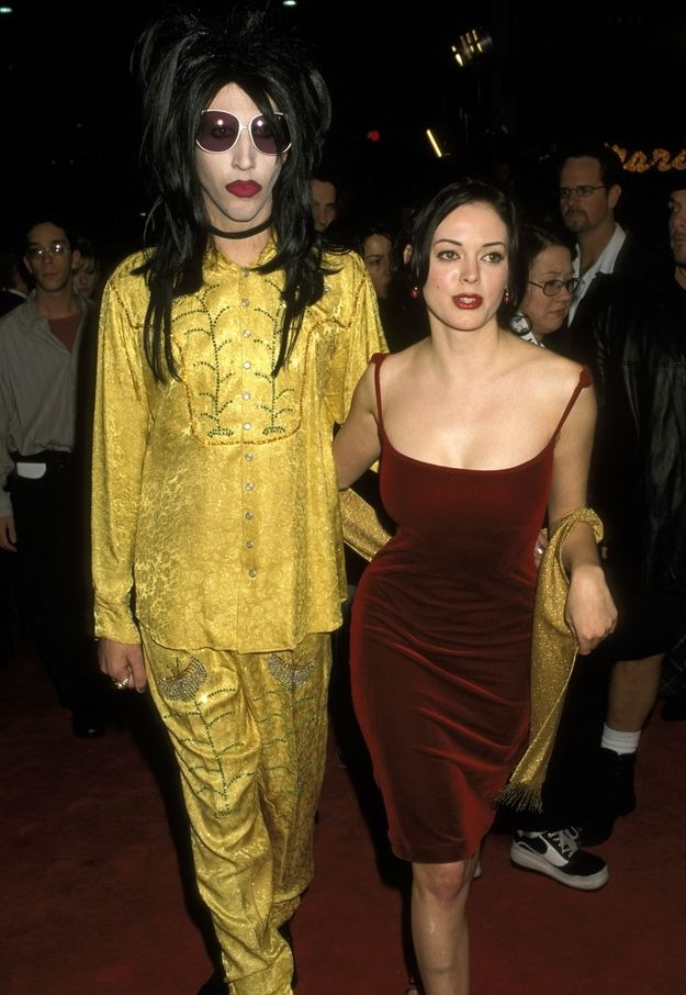 Marilyn Manson and Rose McGowan |Manson and McGowan dated from 1997 to 2001 and were even engaged.