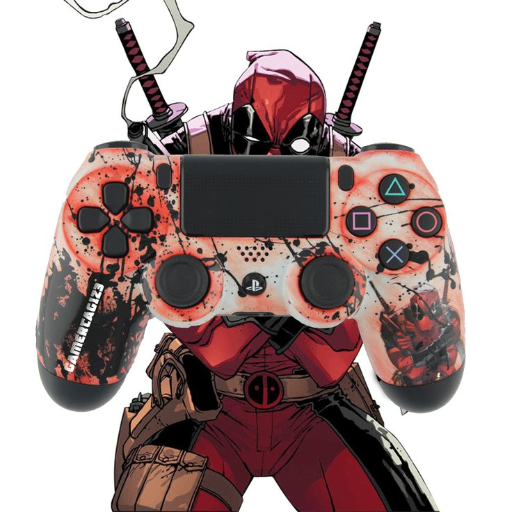 Custom Deadpool PlayStation 4 Controller 12 best