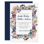 Spring Watercolor Florals Frame Wedding Invitation #weddinginspiration #wedding #weddinginvitions #weddingideas #bride