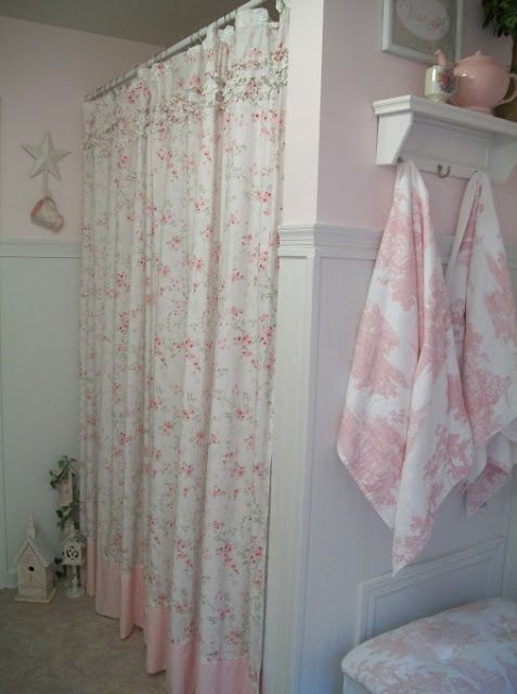 17 best images about pillows window treatments place - Shabby chic shower curtains ...