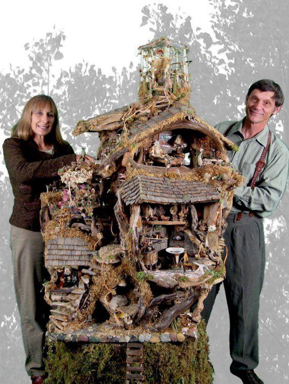 Fairy House. Amazing fairy house!  #Etsy . Fairy Houses. #fairy-house #fairy-tree-house #fairy-hut