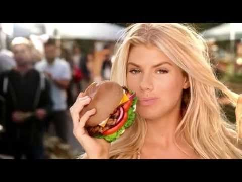 "Carl's Jr. Charlotte McKinney All-Natural ""Too Hot For TV"" Commercial (Extended Cut) - YouTube"