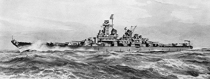USS Montana (BB-67) was never built. Had the Montana-class Battleships been built, they would have been the largest, best protected and the most heavily armed Battleships put to sea by the United States. They would have been the only US Navy battleship to have rivaled the Imperial Japanese Navy's Yamato-class Battleships in terms of armor, weaponry and displacement.
