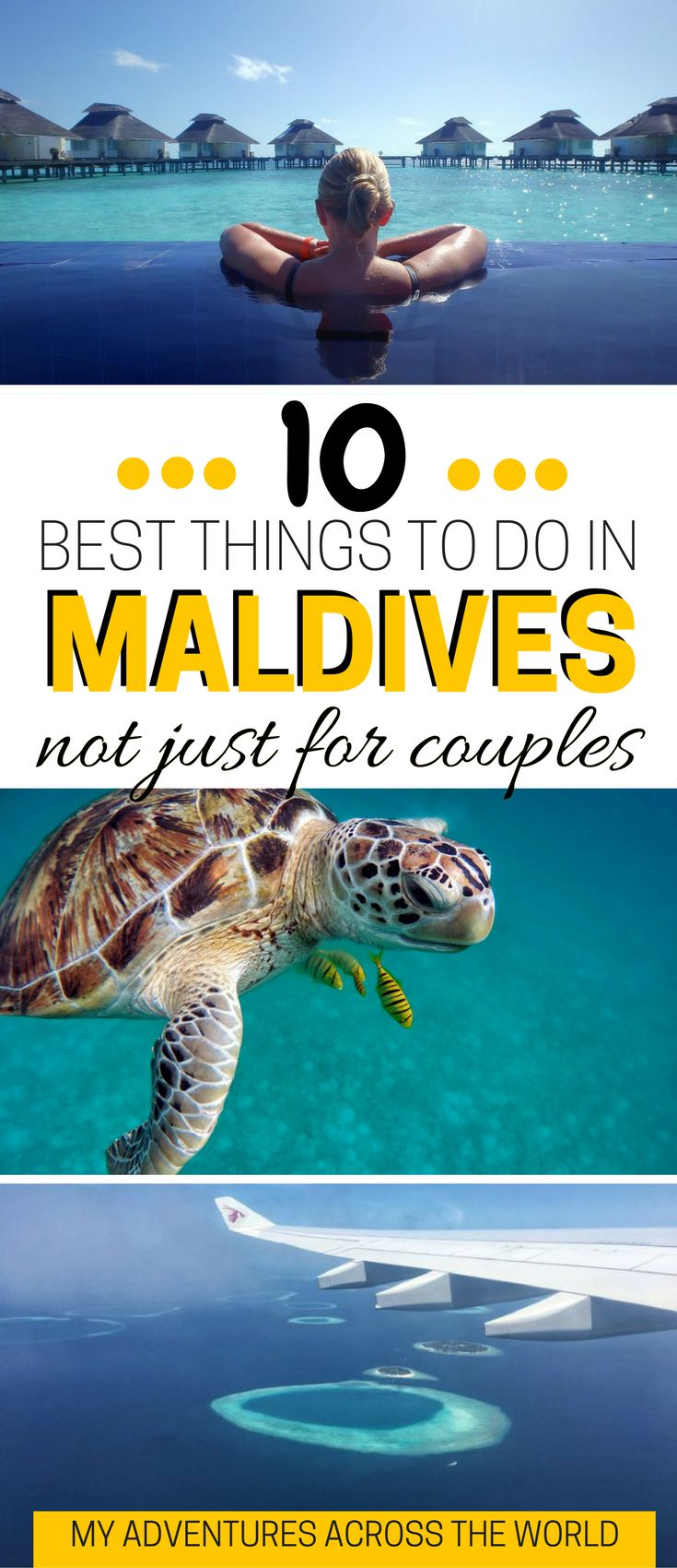 Who said that the Maldives are just for couples? Click for the 10 best things to do in Maldives with or without a partner!   What to do in Maldives   Maldives travel guide   Maldives travel tips  - via @clautavani