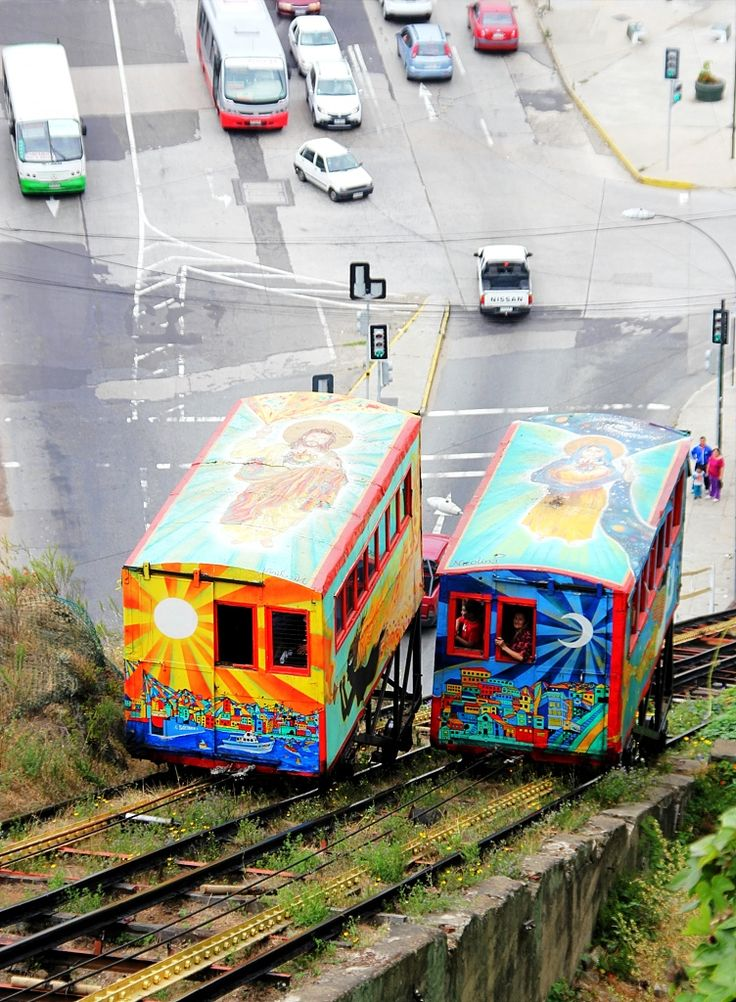 Ascensor Artilleria. Valparaiso, Chile. (Viña del Mar and Valparaiso).