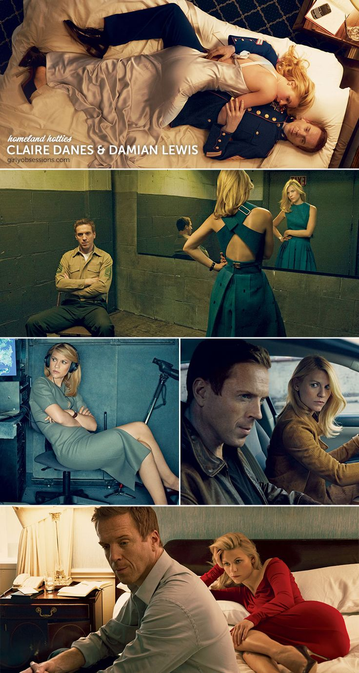 Homeland Hotties: Claire Danes and Damian Lewis. #girlyobsessions #humpdayhottie #homeland
