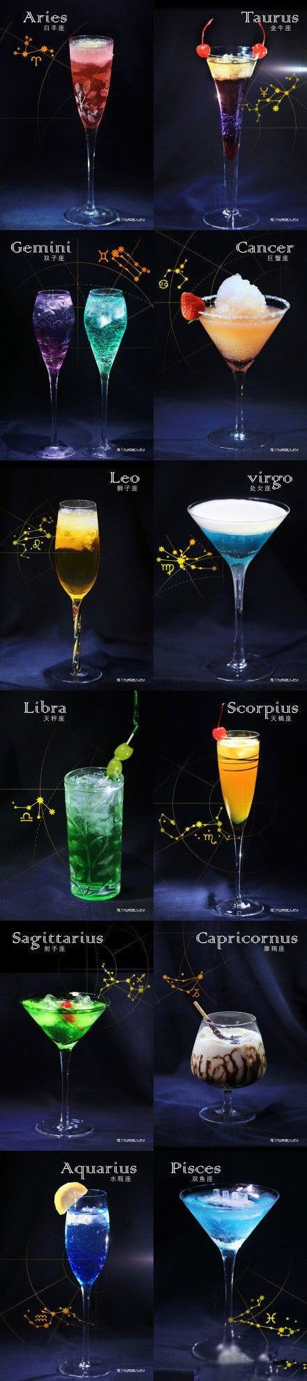 Romance Me Darling- Make Her/ Him Their Favorite Cocktail # Zodiac cocktails- | Via ~LadyLuxuryDesigns