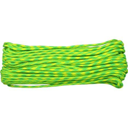 Parachute Cords 1026H 100 ft. Length Lemon-Lime(Neon Green and Neon Yellow) Parachute Cord