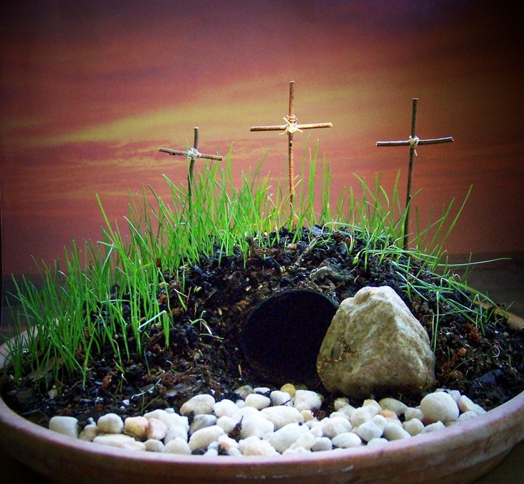 Easter Garden Craft Ideas Part - 15: Find This Pin And More On My Art, Crafts And Other Things I Make That Amuse  Me. A Resurrection Garden ...