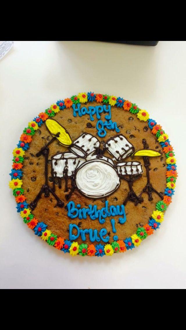 Drum cookie cake