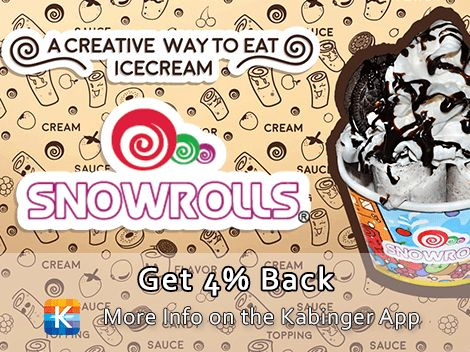 Welcome aboard Snowrolls! A new, creative way to eat ice cream plus 4% back!