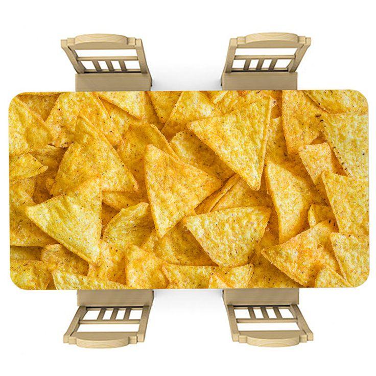 Tafelsticker Nachos | Maak je tafel persoonlijk met een fraaie sticker. De stickers zijn zowel mat als glanzend verkrijgbaar. Geschikt voor binnen EN buiten! #tafel #sticker #tafelsticker #uniek #persoonlijk #interieur #huisdecoratie #diy #persoonlijk #nacho #nachos #chips #tienerkamer #geel #snack #zoutjes #voedsel #eten