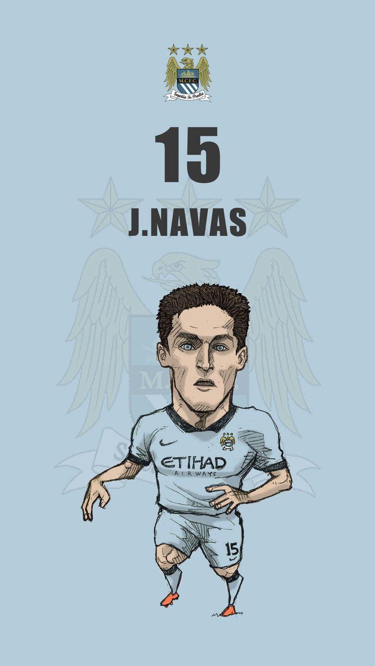 """Manchester city fan art for mobile wallpaper """"Jesus Navas"""""""