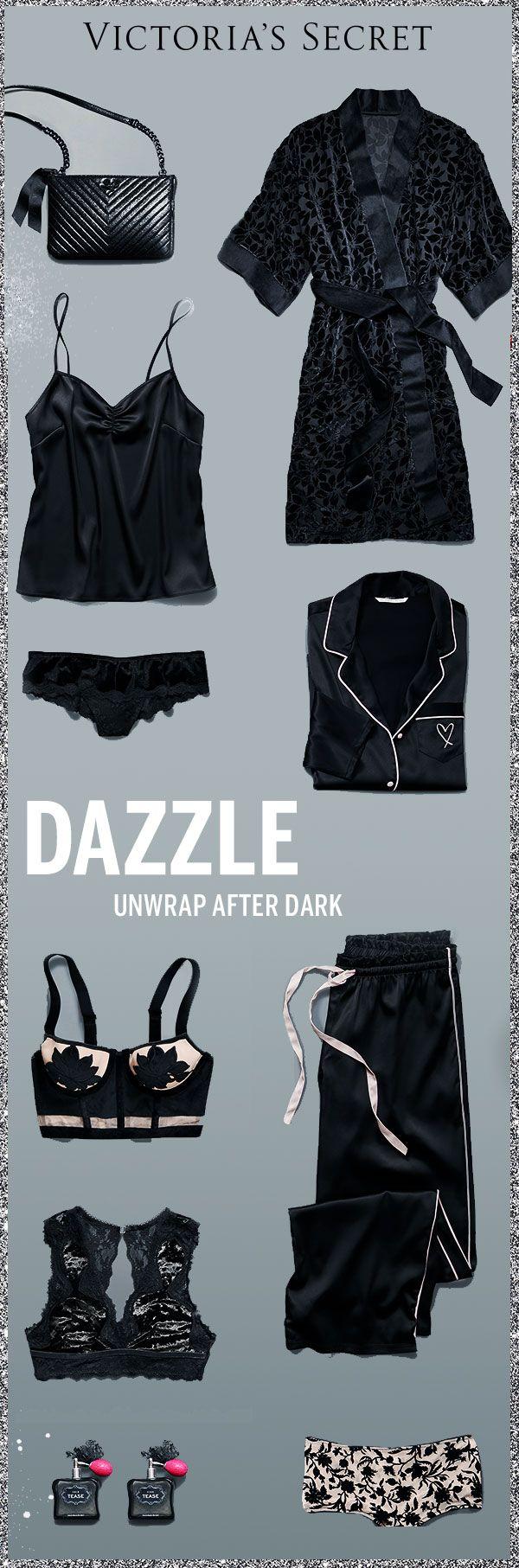 Prepare to be dazzling in #velvet & satin.   Victoria's Secret