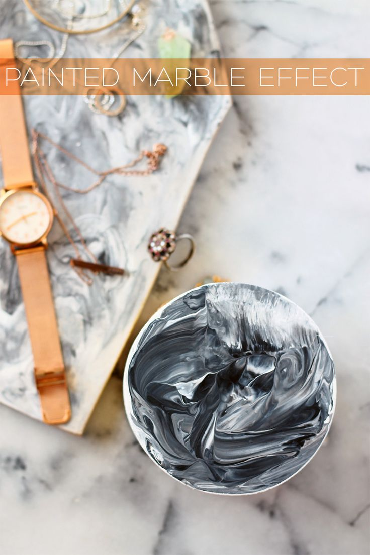 Follow this DIY tutorial to get a marble look by just using paint! | Squirrelly…