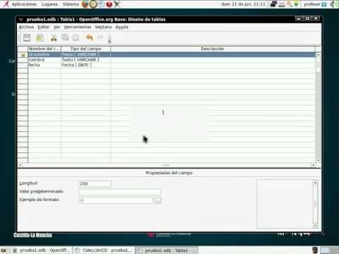LibreOffice - Base TABLAS