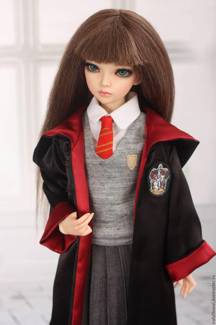 Купить Форма факультета Гриффиндор - разноцветный, Гарри Поттер, гриффиндор, сказка, одежда для кукол