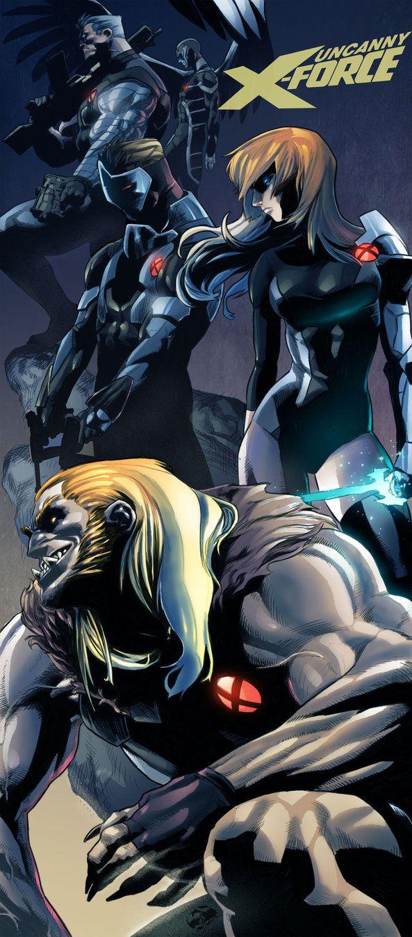 Uncanny X-Force alternate line up including Cable, Magik ...