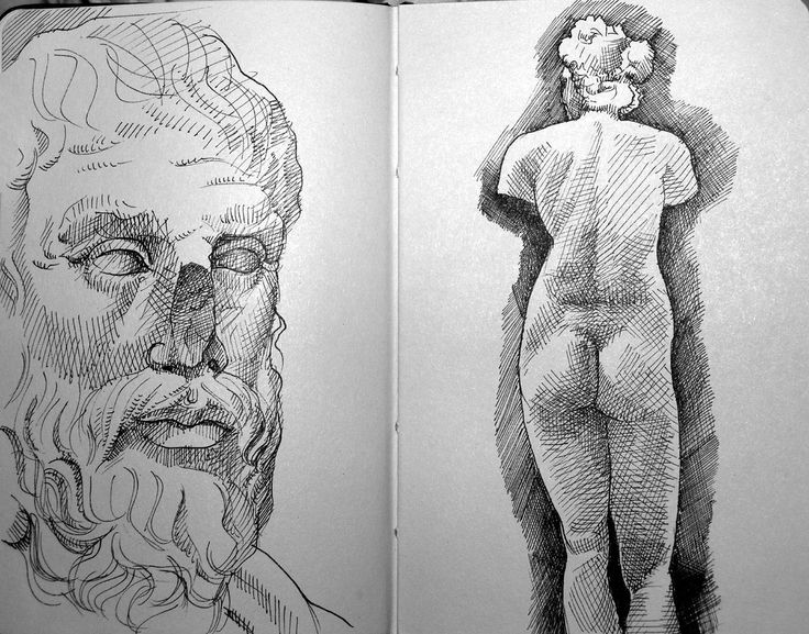 https://flic.kr/p/2fuXSr   met sketch 02   greek and roman sculpture room