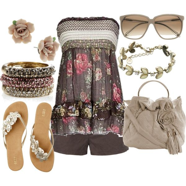 spring flowers!, created by lagu on Polyvore