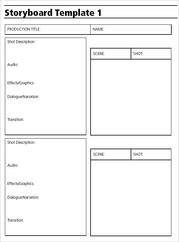 Video Production Storyboard Template Free Example Toon4 In 2019