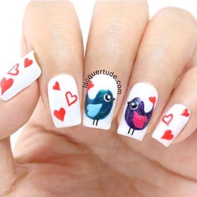 Nail Art Love Bird Paso a paso