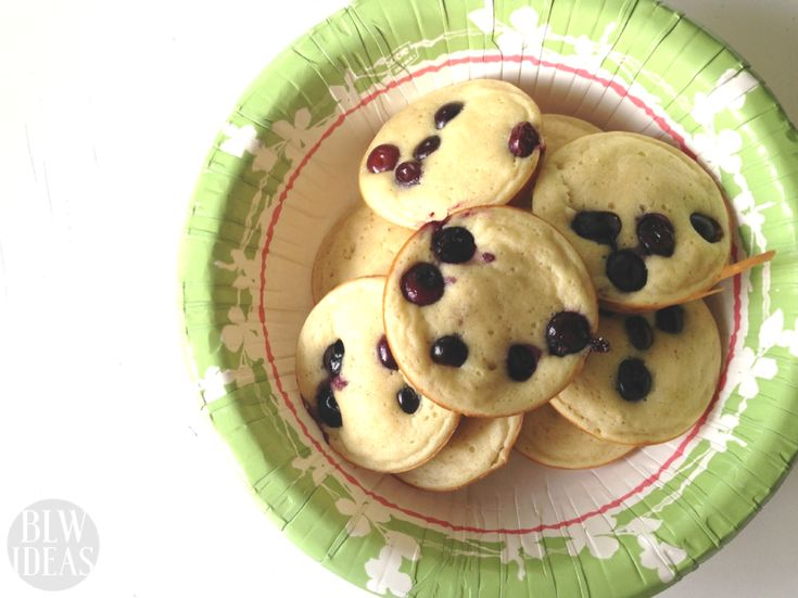 Updated Pancake Bites | Baby Led Weaning Ideas  Your baby will enjoy these blueberry pancake bites. They are handheld, light, and simple. Perfect for a baby starting out with baby led weaning or finger foods.