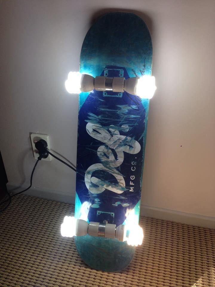 Skateboard Lamp Fluoronerd Design Inspiration Www