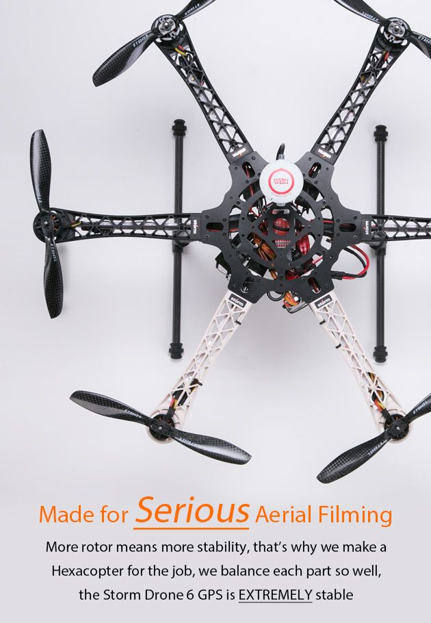 STORM Drone 6 GPS Flying Platform - HeliPal