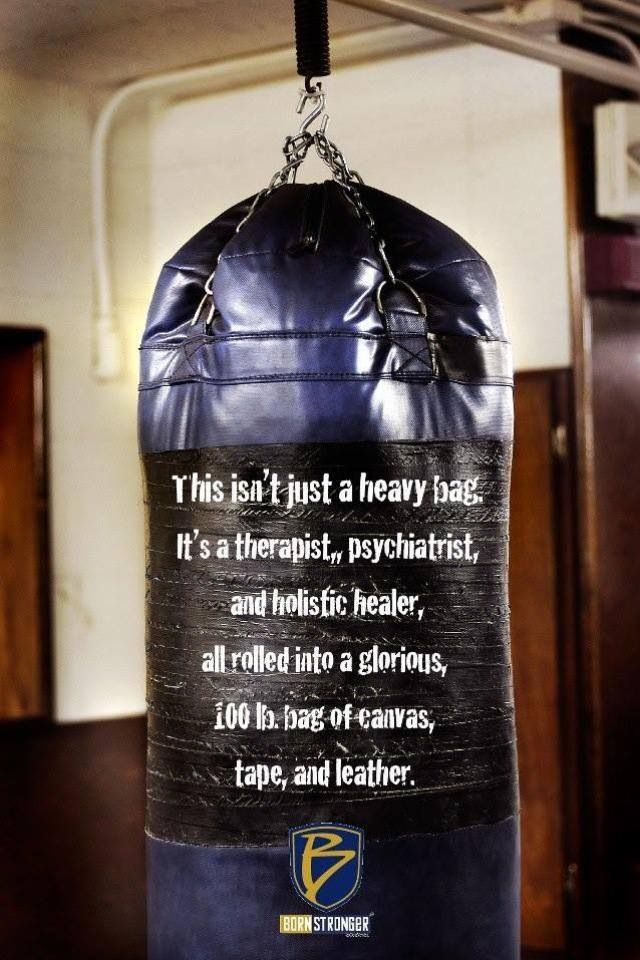 So true. If more women boxed, there would be a lot of unemployed therapists.