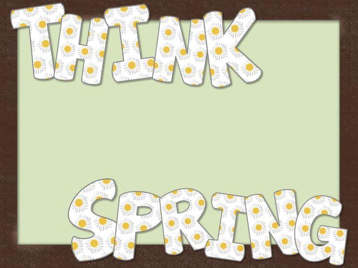 Thinking Spring Bulletin Board FREEBIE - The Organized Classroom Blog