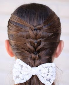Mermaid Heart Braid Valentine's Day Hairstyle - Instructions and Video Tutorial / Cute Girls Hairstyles