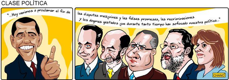 Discurso de Obama en su toma de posesión. Los políticos españoles tomando nota (20/01/2009). By Chano Calvo