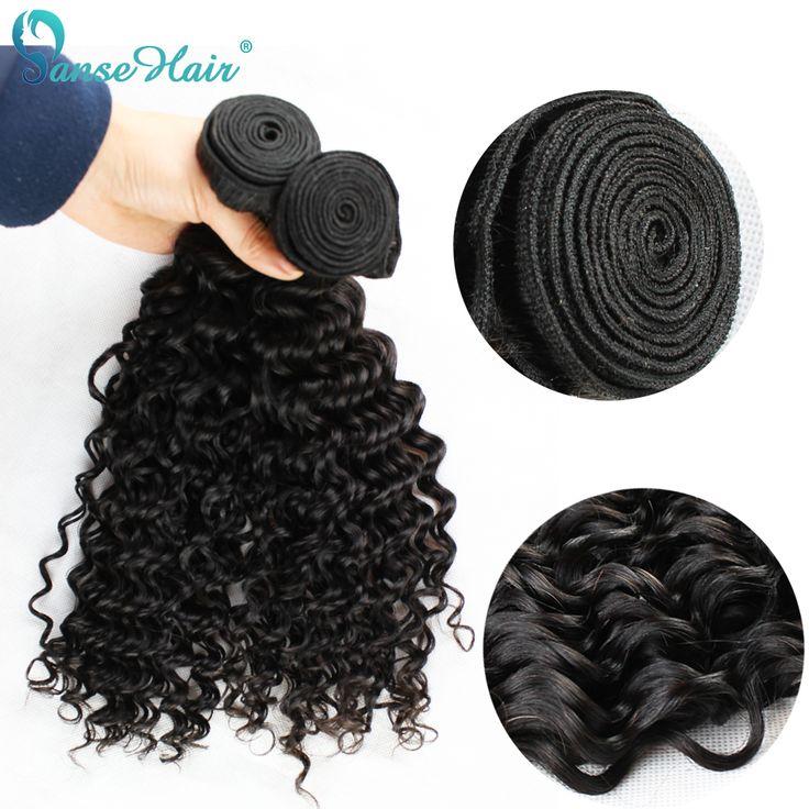 Onda profunda brasileña virginal del pelo rizado productos de pelo sin procesar del pelo humano teje 4 bundle ofertas incomparables envío rápido cupón