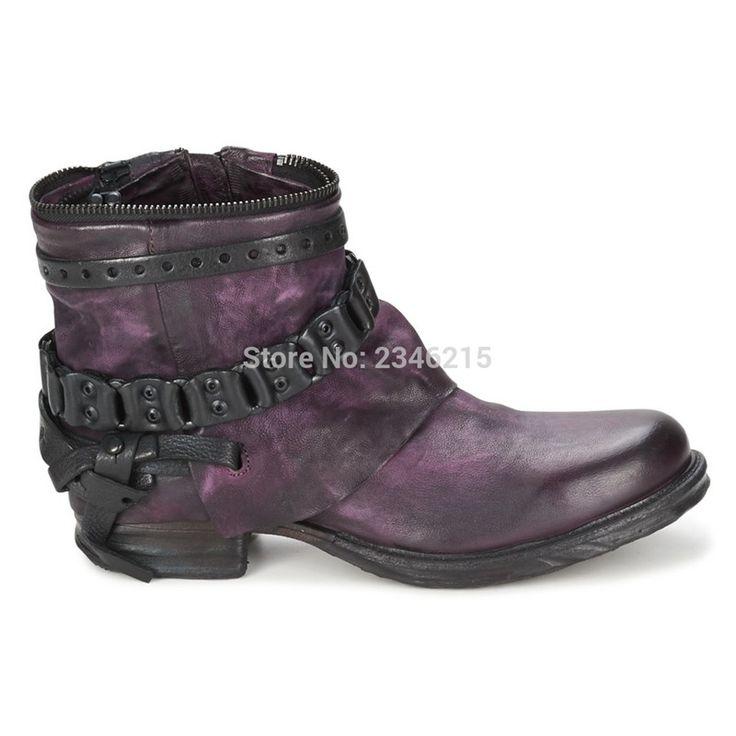 Ucuz Lüks Marka Retro Deri Biker Boots Orta Buzağı Kadın Platformu Yağmur Çizmeleri Motosiklet Sonbahar Kış kovboy çizmeleri Ayakkabı Kadın, Satın Kalite bayan botları doğrudan Çin Tedarikçilerden: