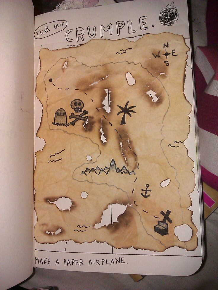 Tear out, crumple, from Wreck This Journal