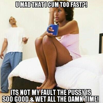I cum too fast during sex