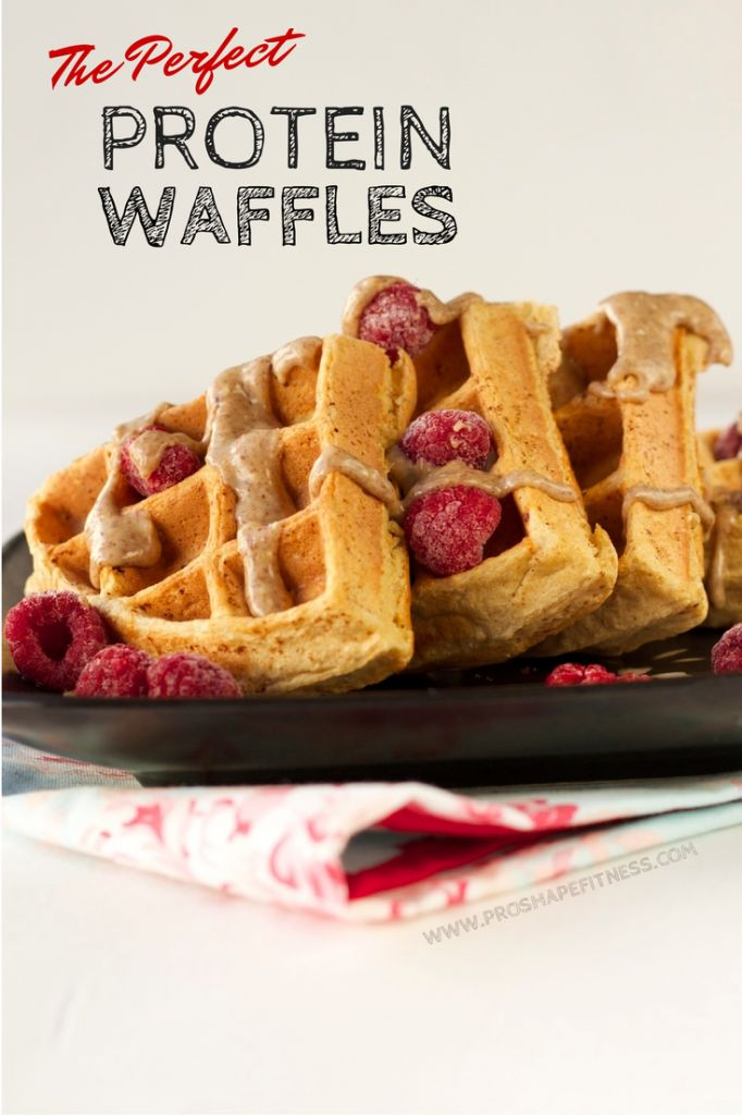 The Perfect Protein Waffles!  These taste so good!