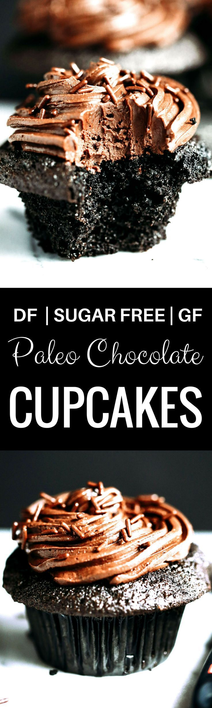Paleo Chocolate Cupcakes (gluten-free, dairy-free, sugar-free)