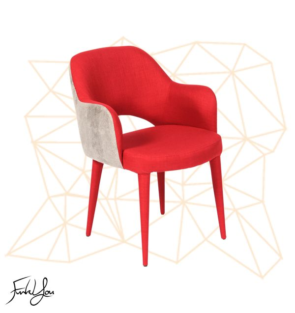 Charlotte Dining Chair - Red / White Snake. www.funkyou.com.au