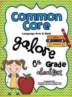 What the Teacher Wants!: 6th grade Common Core Checklist.