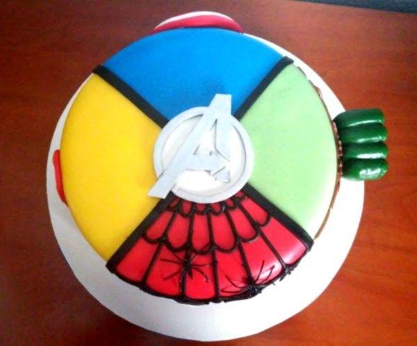 Tarta Vengadores 2.2 | De Perla's | Tartas fondant personalizadas en Málaga