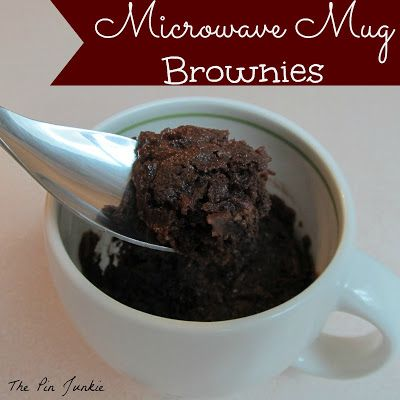 The Pin Junkie: Single Serve Microwave Mug Brownies