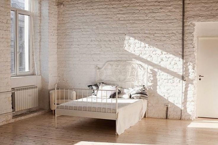 25 ιδέες διακόσμησης υπνοδωματίου με λευκά τούβλα