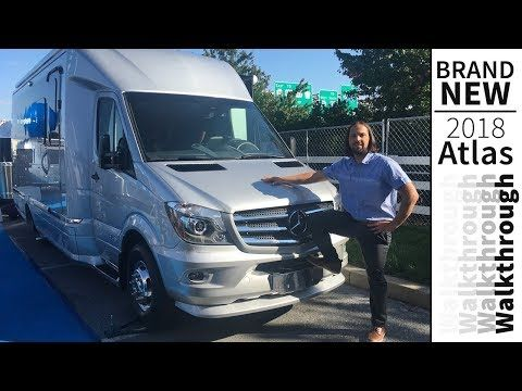 Walk Through 2018 Airstream Atlas Class B+ Touring Coach Mercedes Sprinter RV - YouTube