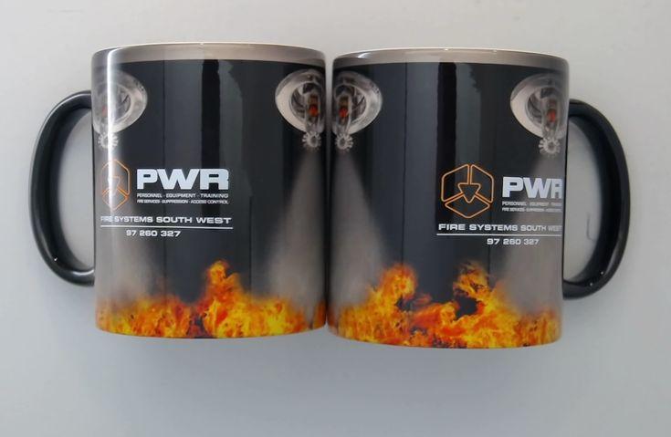 It like magic .. most of the design is revealed when hot liquid fills the mug.